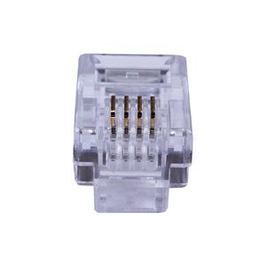Коннекторы 4P4C (RJ-11) (100шт) (10-0229)   Разъем