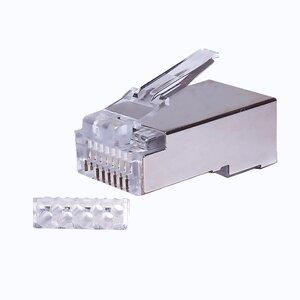 Коннекторы 8P8C FTP Cat.6 3U (RJ-45) (100шт) (10-0202) | Разъем