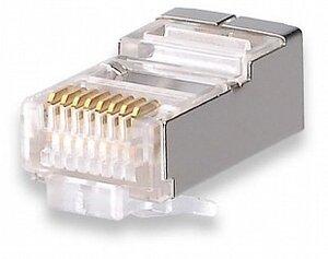 Коннекторы 8P8C FTP Cat.5e 3U (RJ-45) (100шт) (10-0201) | Разъем