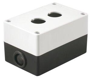 Корпус КП102 для кнопок 2 места белый (BKP10-2-K01) | Корпус для кнопочных постов