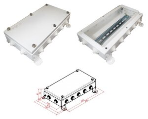 КМ IP54-1530, 14 вводов | Коробка монтажная электротехническая