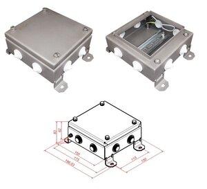 КМ IP54-1515, 8 вводов, нержавейка | Коробка монтажная электротехническая