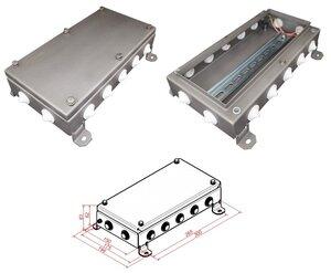 КМ IP54-1530, 14 вводов, нержавейка | Коробка монтажная электротехническая