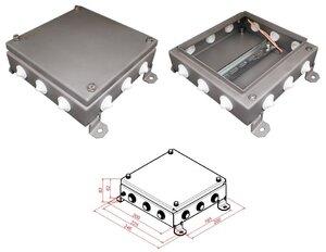 КМ IP54-2020, 12 вводов, нержавейка | Коробка монтажная электротехническая