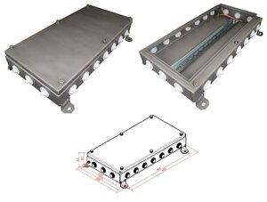 КМ IP54-2040, 20 вводов, нержавейка | Коробка монтажная электротехническая