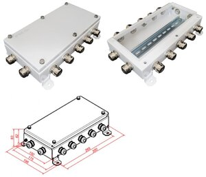КМ IP66-1530, 12 вводов | Коробка монтажная электротехническая