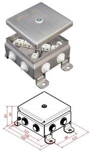 КМ-О (12к)-IP54-1212, 8 вводов, нержавейка | Коробка монтажная огнестойкая