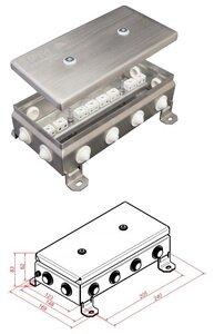 КМ-О (16к)-IP54-1224, 12 вводов, нержавейка   Коробка монтажная огнестойкая