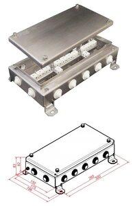 КМ-О (28к)-IP54-1530, 14 вводов, нержавейка | Коробка монтажная огнестойкая