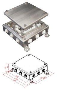 КМ-О (32к)-IP54-2020, 12 вводов, нержавейка | Коробка монтажная огнестойкая