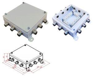 КМ-О (32к)-IP66-2020, 12 вводов   Коробка монтажная огнестойкая