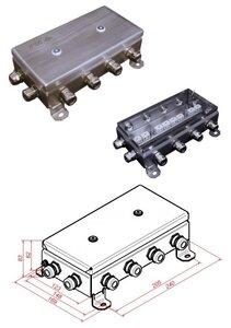 КМ-О (16к)-IP66-1224, 12 вводов, нержавейка | Коробка монтажная огнестойкая