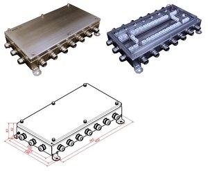 КМ-О (64к)-IP66-2040, 20 вводов, нержавейка | Коробка монтажная огнестойкая