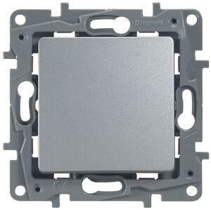 Выключатель одноклавишный ETIKA, алюминий (672401) | Выключатель