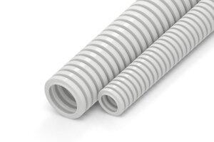 Труба гофрированная ПЛЛ легкая 350 Н безгалогенная (HF) негорючая (НГ) белая с/з D=20 | Гофрошланг