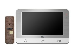 CTV-DP1703 S (серебро) | Комплект видеодомофона