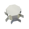 Соединитель ККМО Угол 15 X-образный металлический | Угол X-образный для кабель-канала