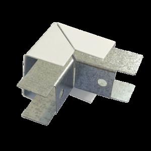 Соединитель ККМО Угол 25 Y-образный внешний металлический   Угол Y-образный внешний для кабель-канала