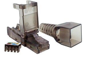 Коннектор 8P8C UTP 6A (RJ-45) безынструментальный (10-0239)   Разъем