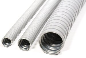 Металлорукав в ПВХ изоляции МРПИ НГ 22, серый (zeta41922) | Металлорукав в ПВХ-изоляции