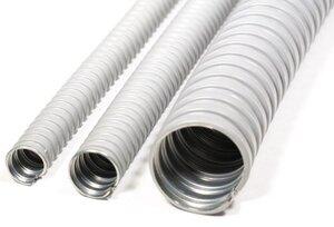 Металлорукав в ПВХ изоляции МРПИ НГ 12, серый (zeta41920) | Металлорукав в ПВХ-изоляции
