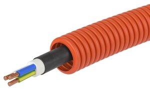 Труба ПНД D=16 + ВВГнг(А)-LS 3х2,5 (ГОСТ+) (7S91625) | Гофрошланг с кабелем