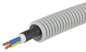 Труба ПВХ D=20 + ПуВ 3х2,5 (ГОСТ+) (9V91625)   Гофрошланг с кабелем