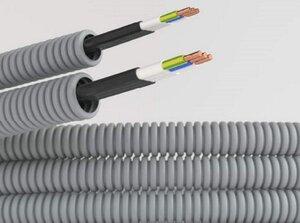 Труба ПВХ D=20 + ВВГ-Пнг(А)-LS 3х1,5 Конкорд (9L920100KF) | Гофрошланг с кабелем