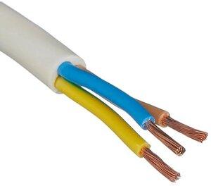 ПВС 2х2,5 ГОСТ белый (РЭМЗ)   Провод силовой с двумя жилами
