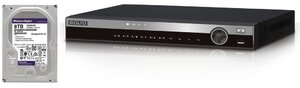 Комплект BOLID RGG-1622 версия 2 + WD82PURZ (8 TB)   Видеорегистратор мультиформатный 16-канальный + жесткий диск