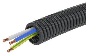 Труба ПНД D=16 + ПуВ 3х2,5 (ГОСТ+) (7V71650) | Гофрошланг с кабелем