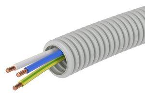 Труба ПВХ D=16 + ПуВ 3х1,5 (ГОСТ+) (9P91650) | Гофрошланг с кабелем