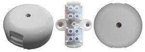УК-2П с клеммной колодкой, 4 контакта, белый (Магнито-Контакт) | Коробка коммутационная для 4х2 проводов